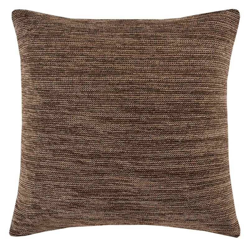 Preston Brown Woven Knit Pillow 18X18