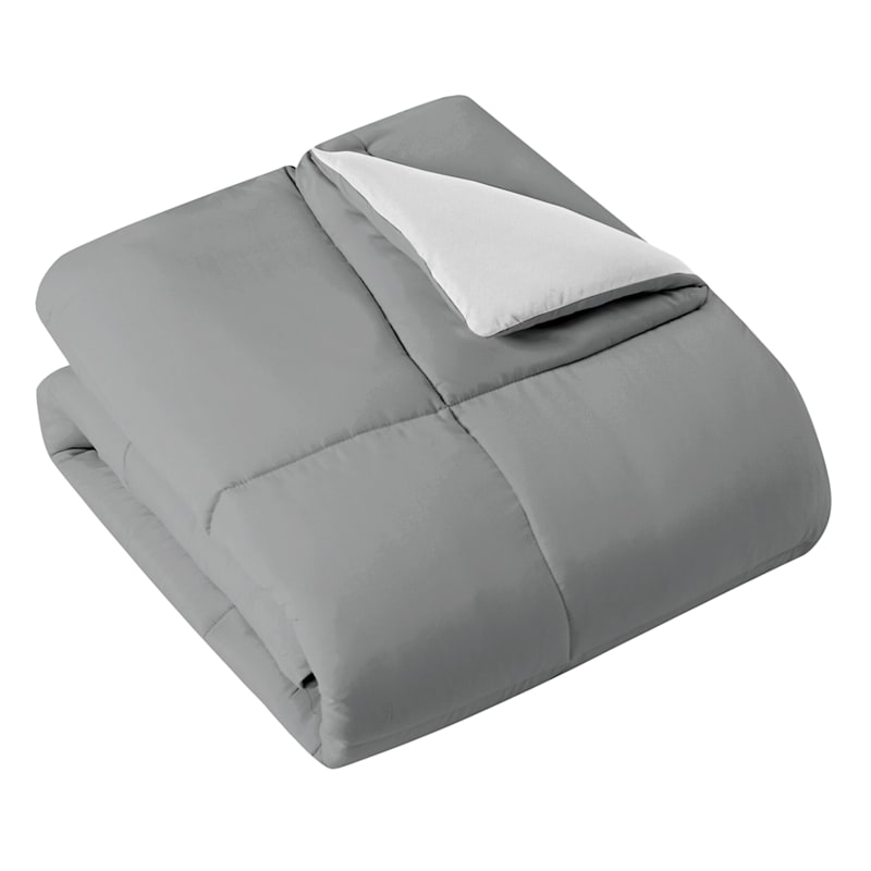Down-Alternative Comforter, Full/Queen, Grey
