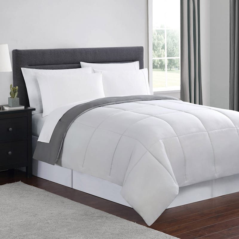 Down-Alternative Comforter, King, Grey
