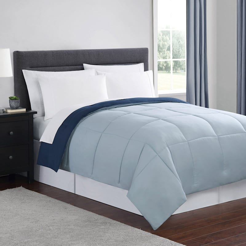 Down-Alternative Comforter, King, Navy Blue