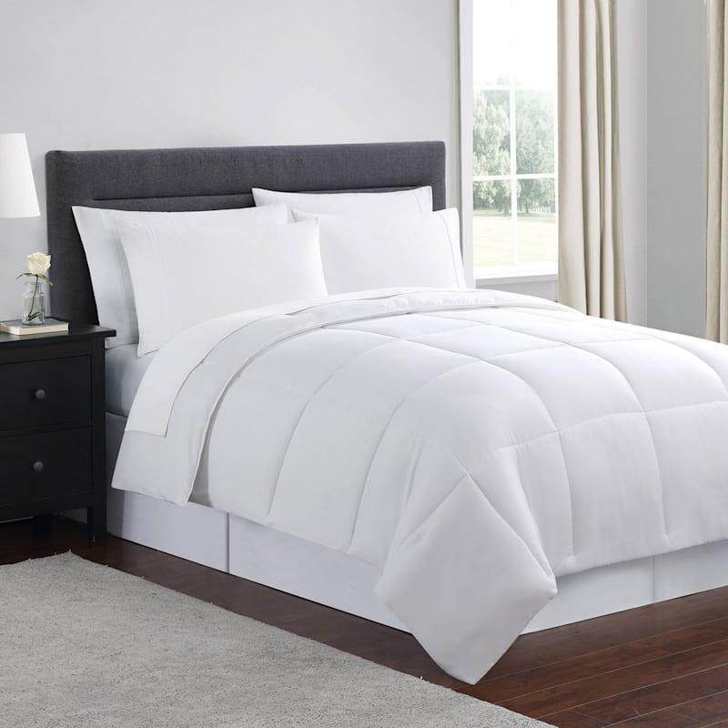 Down-Alternative Comforter, Full/Queen, White