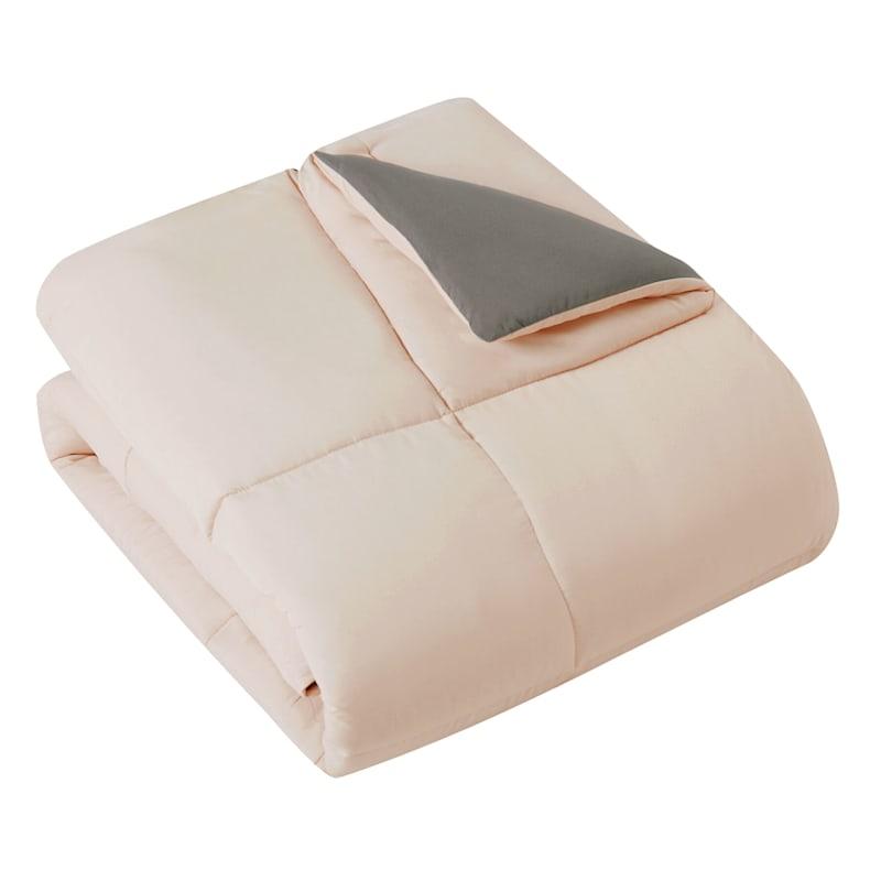 Down-Alternative Comforter, Twin, Blush Grey
