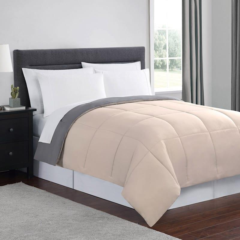 Blush/Grey Down Alt Comforter Full Queen