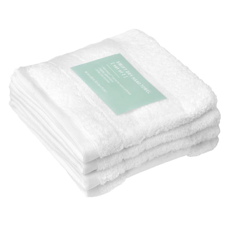 Quick-Dry 4-Pk. Washcloths, White