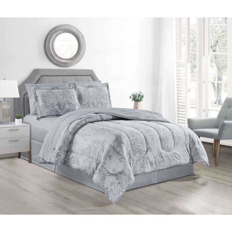 Ada 8-Piece Bed-in-a-Bag Set, Queen
