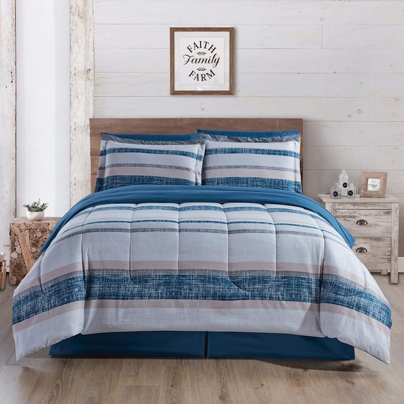 Bandit Stripe 6-Piece Bed-in-a-Bag Set, Twin