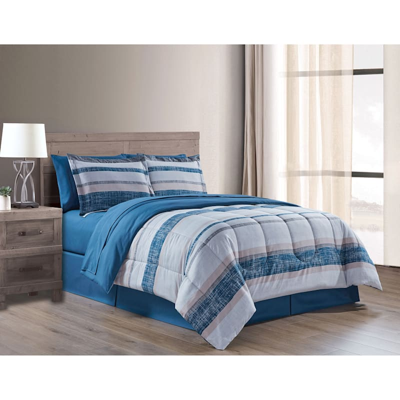 Bandit Stripe 8-Piece Bed-in-a-Bag Set, King