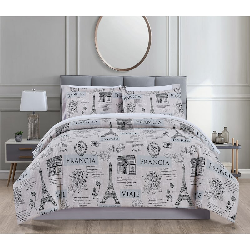 Paris 8-Piece Bed-in-a-Bag Set, Full