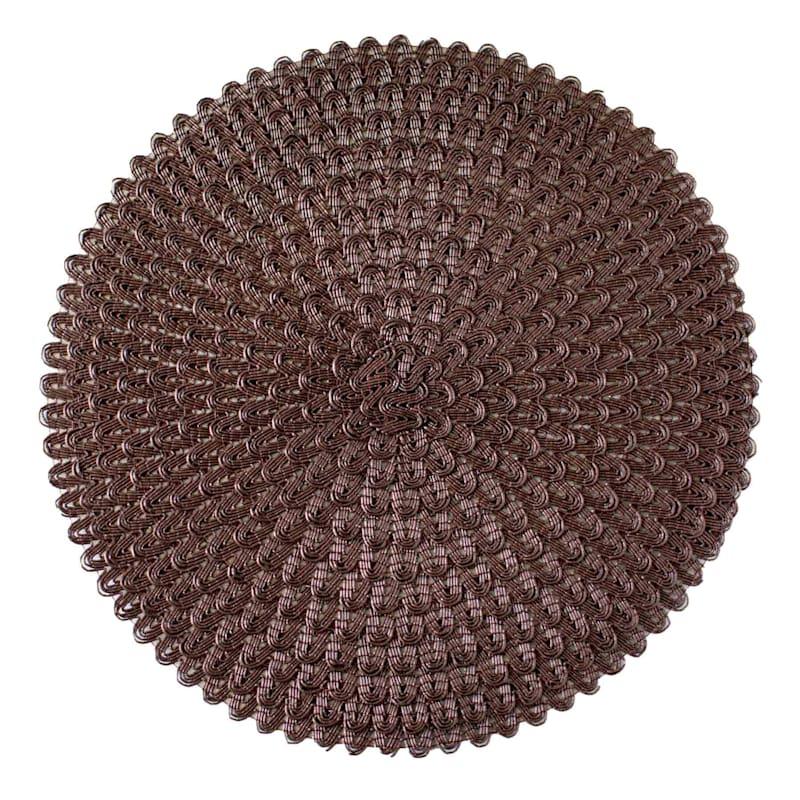 Set Of 6 Ricrac Placemat Chestnut