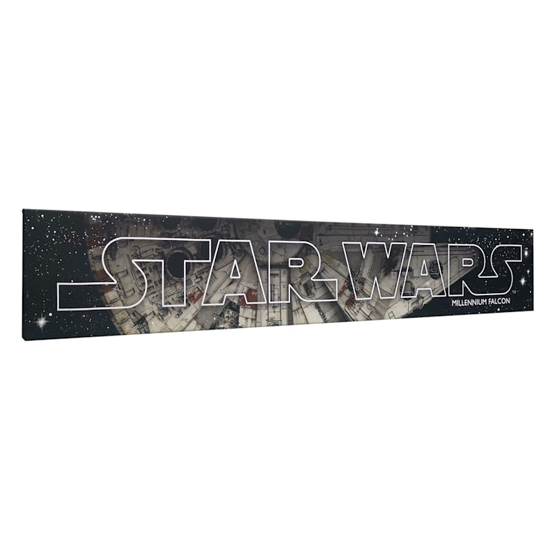 36X6 Star Wars Millenium Falcon Canvas Wall Art