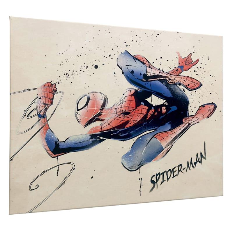 20X16 Spider-Man Splatter Canvas Wall Art