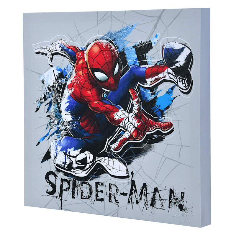 "Spider-Man Canvas Wall Art, 12"" x 12"""