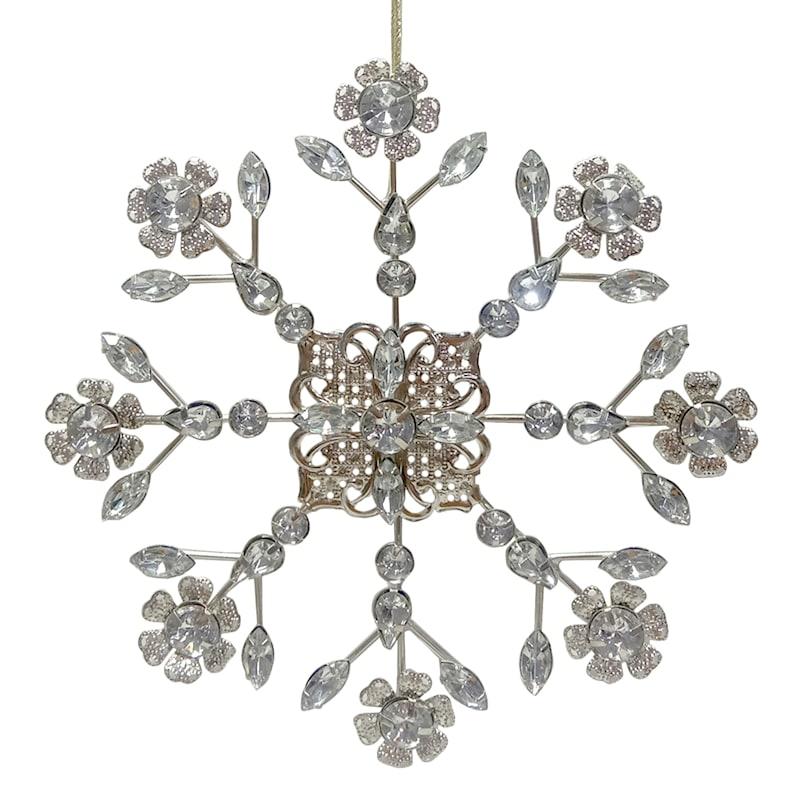 Metal Gem Flower Ornament