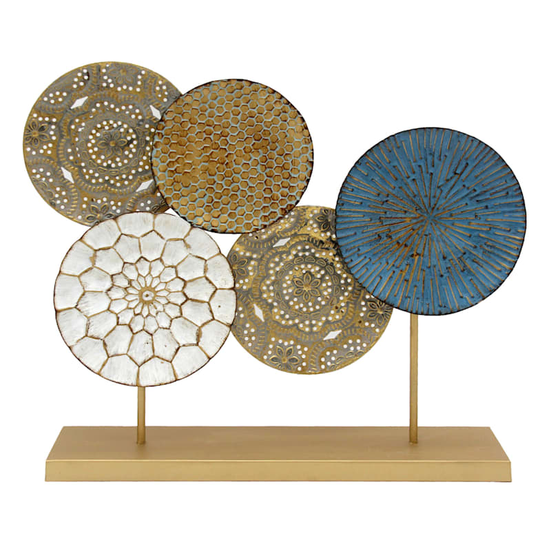 Metal Discs Decor, 24""