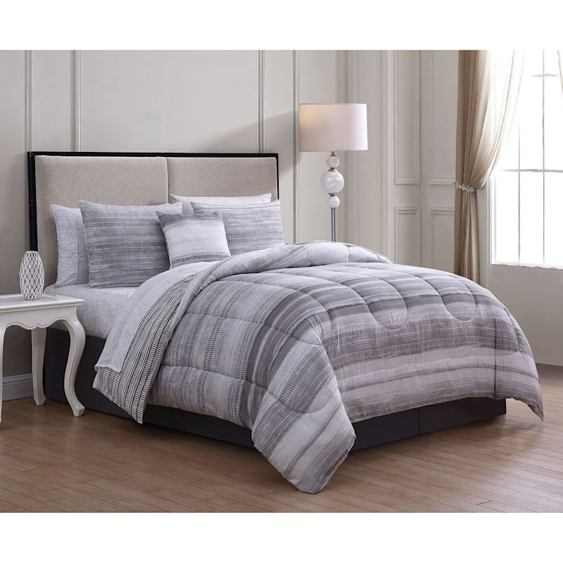 LAKEN 8PC BIAB- QUEEN - GREY