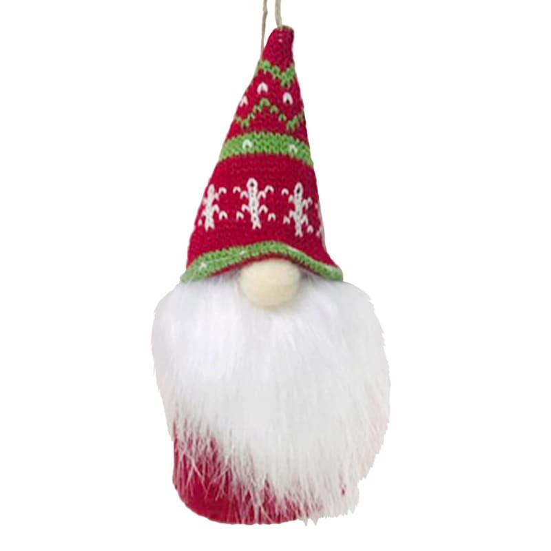 "Red Hat Fabric Gnome Ornament, 6"""
