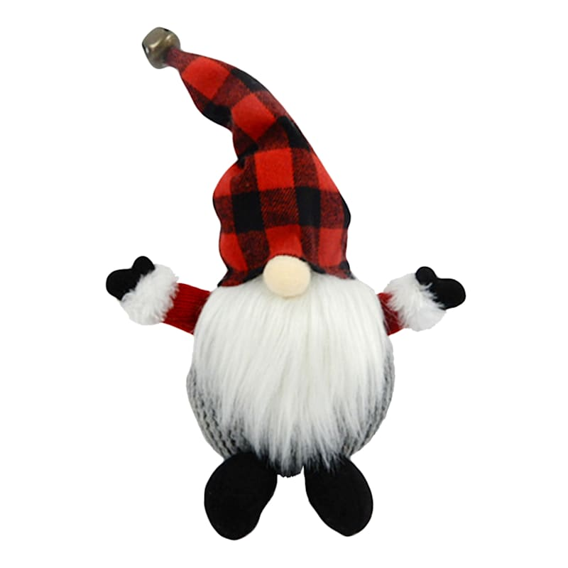 Red & Black Checkered Gnome Decor