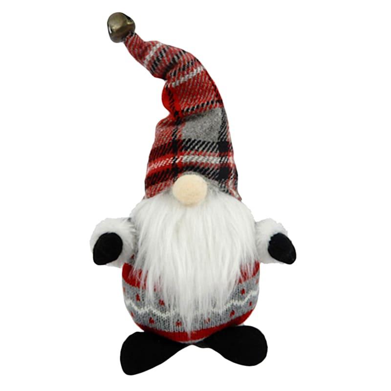 Red & Gray Plaid Gnome Decor