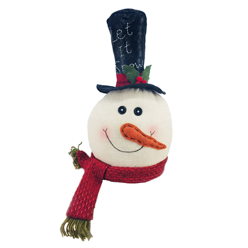 Fabric Snowman Head Decor, 15""