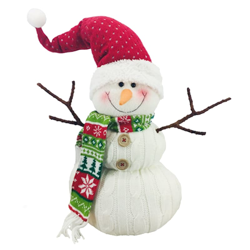 Fabric Snowman Decor, 15""