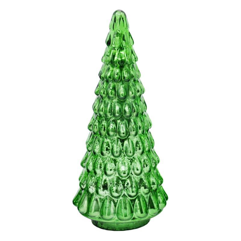 """FAO Schwarz Green LED Tree, 10"""""""