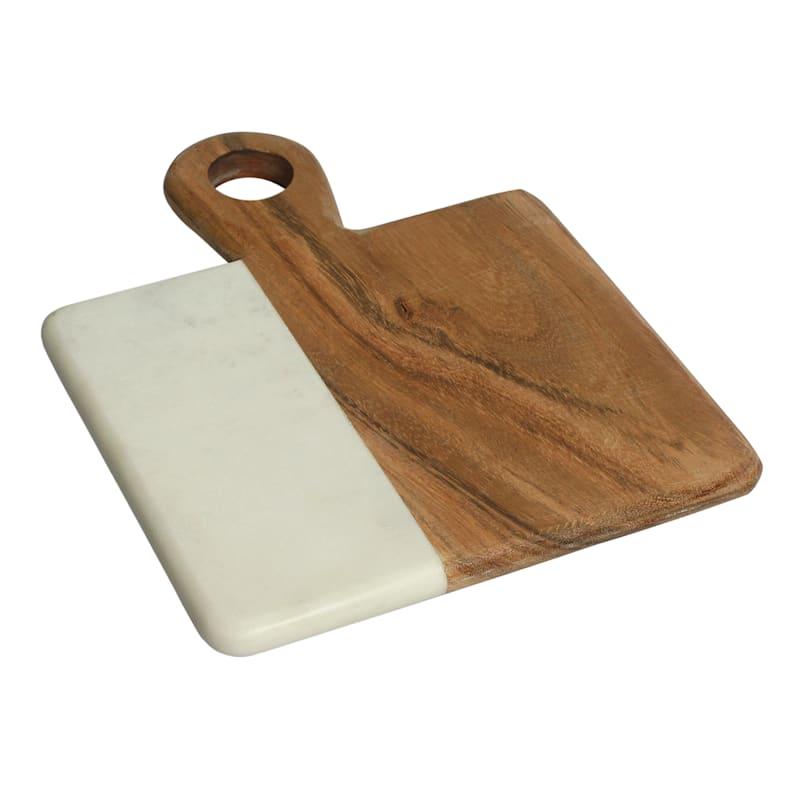 White Marble/Acacia Wood Small Cheese Board