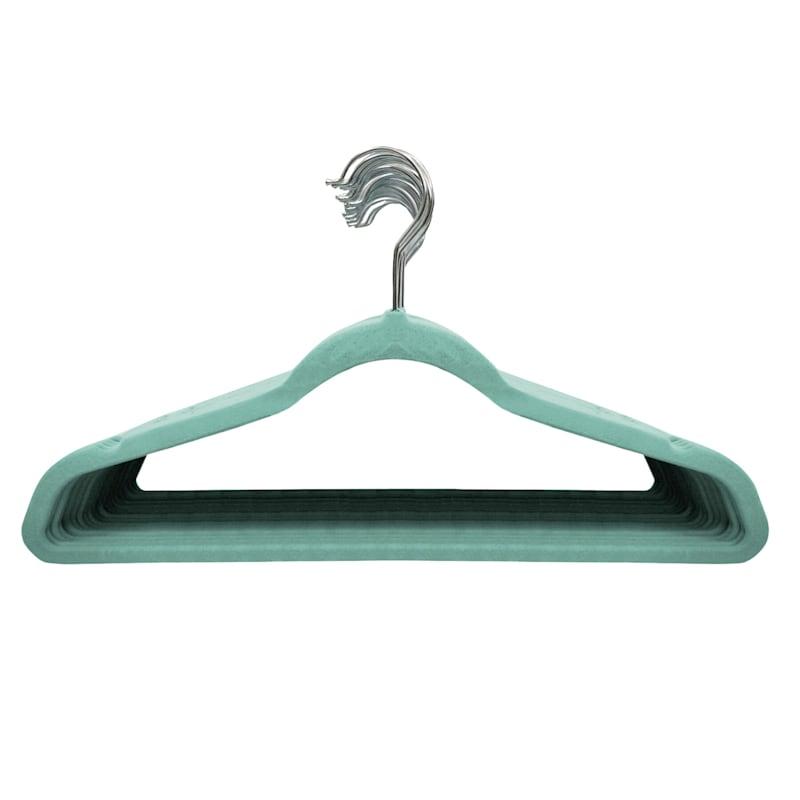 25 Pack Velvet Hanger Pool Blue