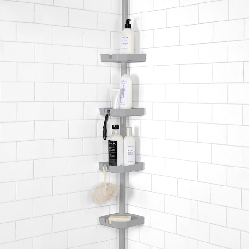 4 Tier Tension Corner Shower Caddy At Home