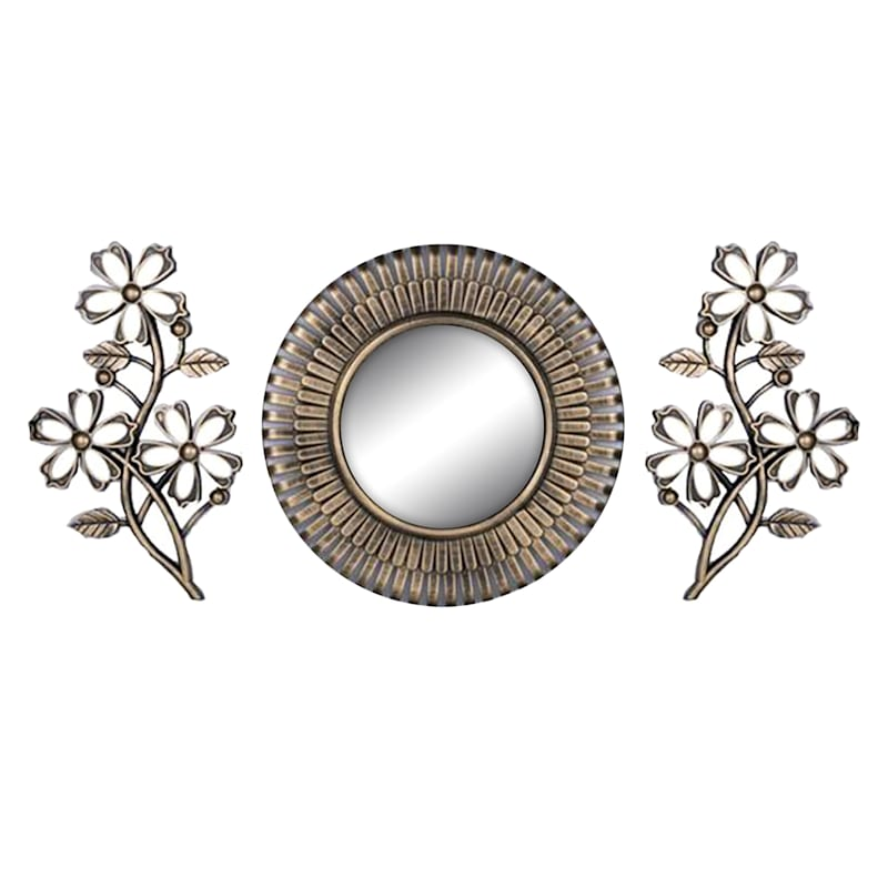 ASSORTED 10IN 3 PC MIRROR SET