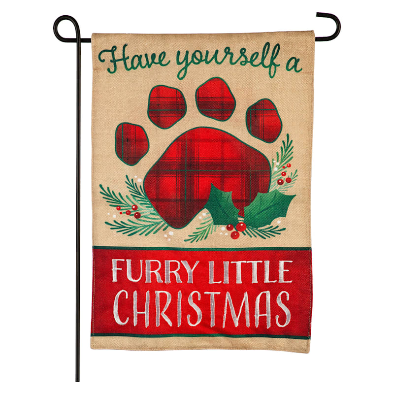 Furry Little Christmas Flag
