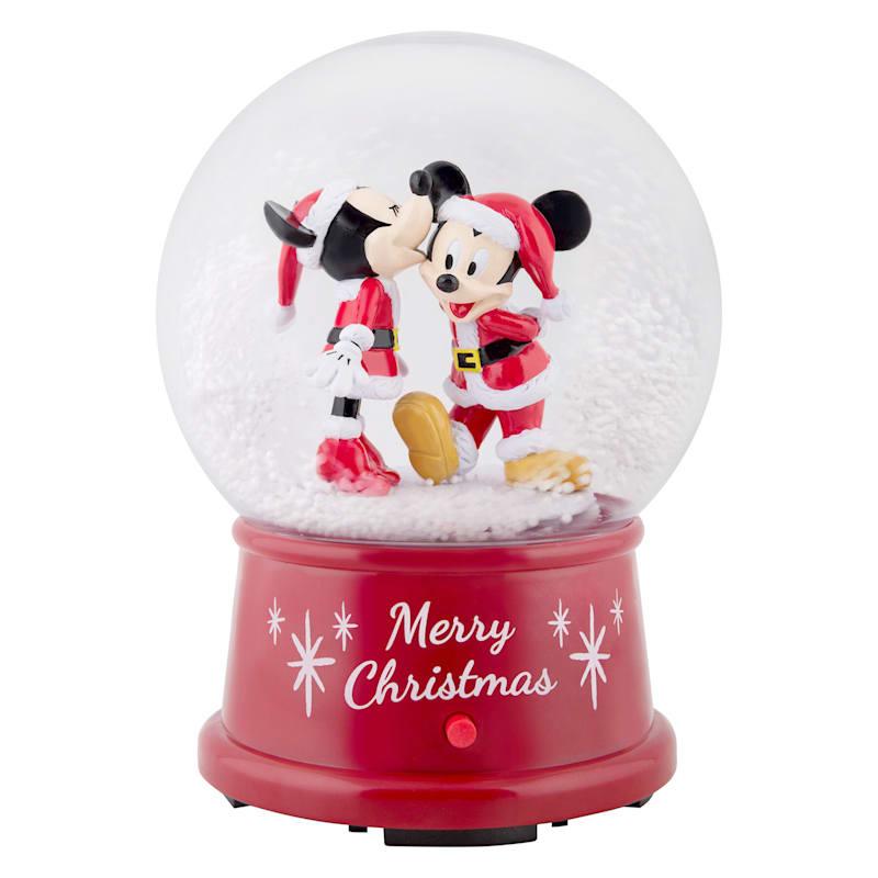 Minnie & Mickey Mouse Christmas Snow Globe