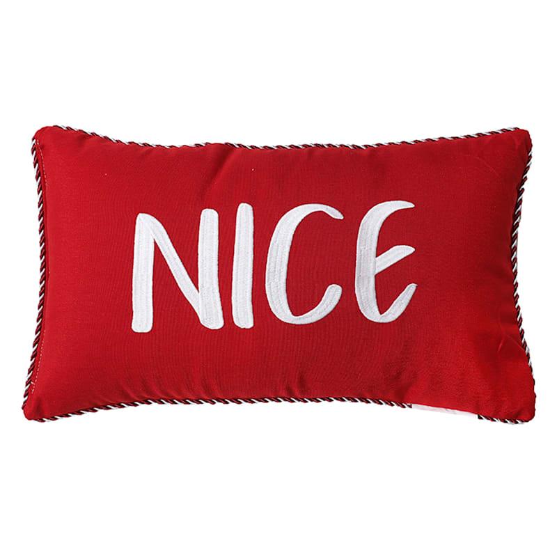 """Naughty or Nice Throw Pillow, 12"""""""