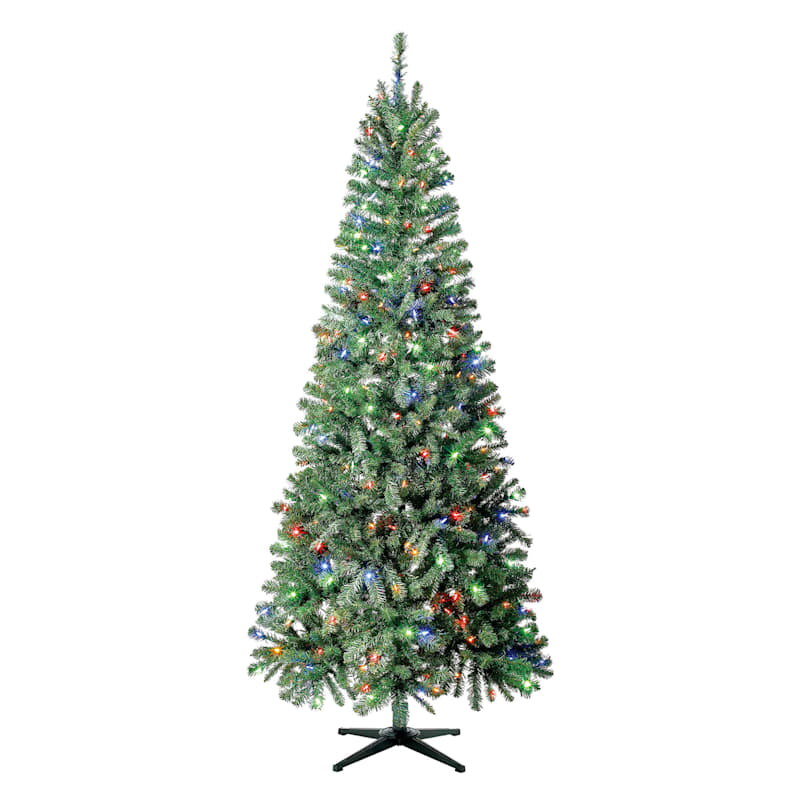 (C52) 7.5' Bradford Pre-Lit Christmas Tree with 300 Color-Changing Lights