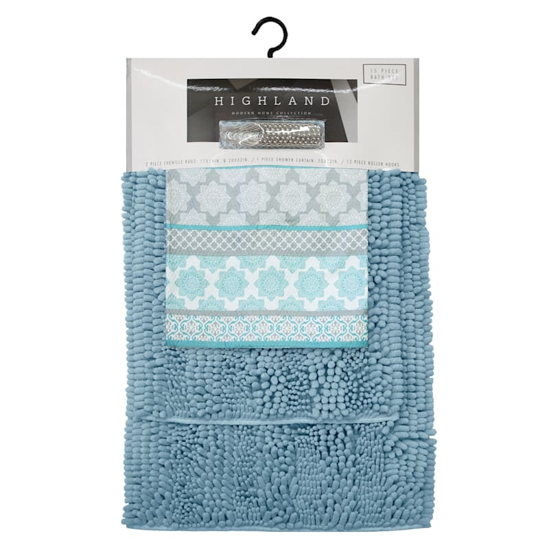 BENECIA 15PC BATH SET TEAL