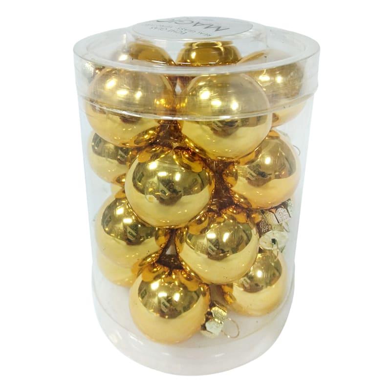 FAO Schwarz 20-Count Gold Glass Ornaments Set