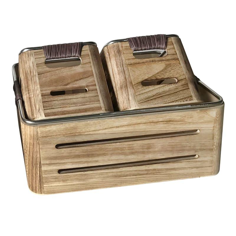 Wood Crate/Metal Trim