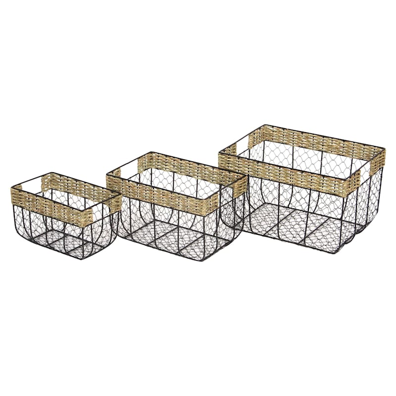 Wire Basket/Seagrass Rim