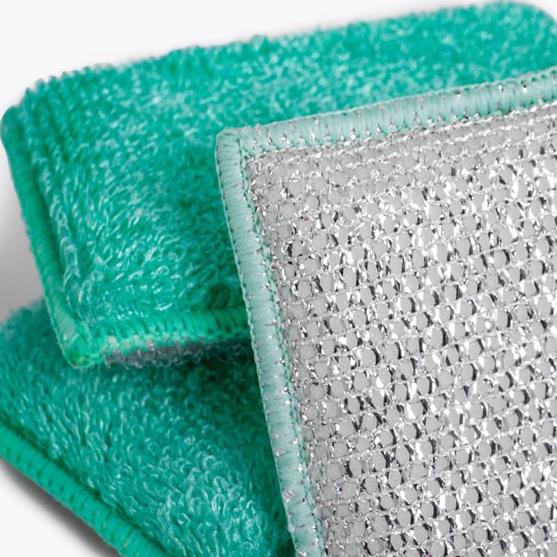 3-Pack Bamboo Smart Sponge Heavy Duty Soft And Metallic Anti-Bacterial