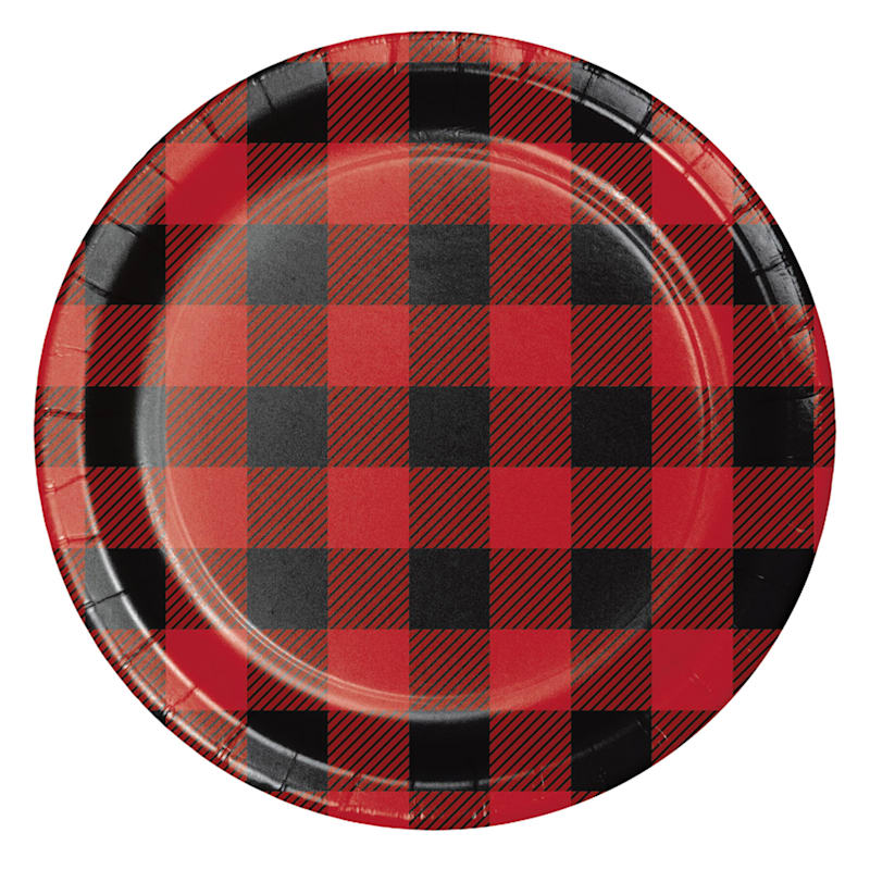 8-Count Buffalo Plaid Lunch Plate