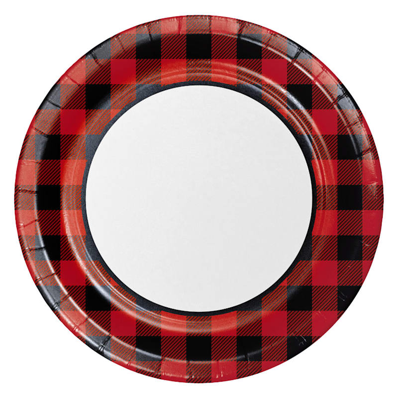 8-Count Buffalo Plaid Dinner Plates