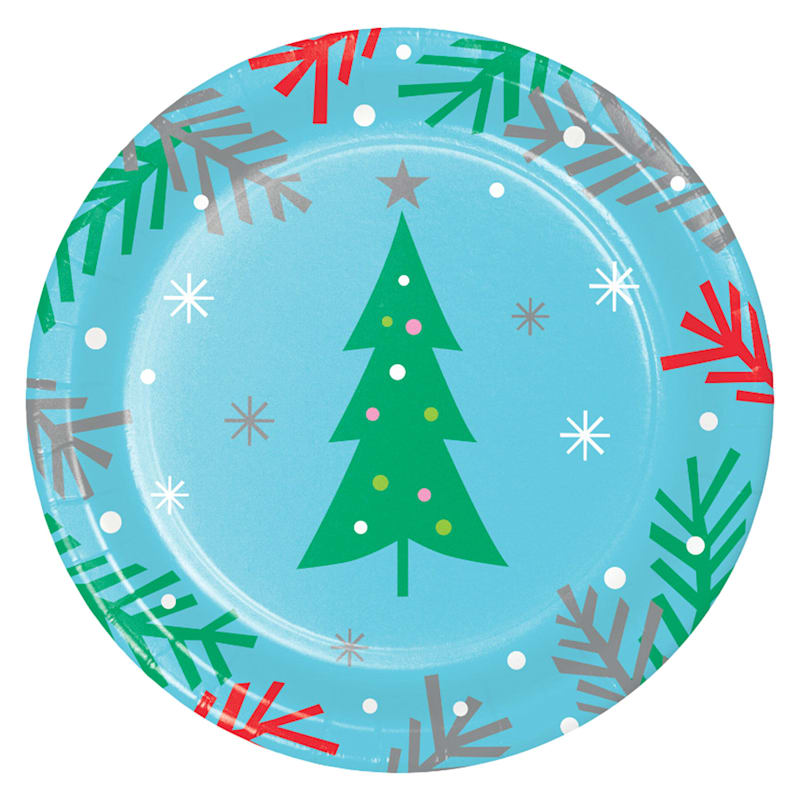 8-Count Holiday Tree Plates