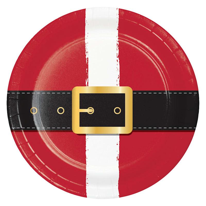 8-Count Santa's Belt Lunch Plates