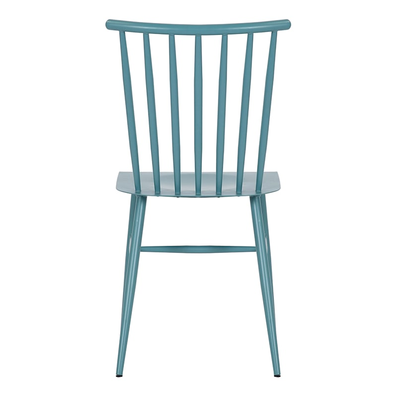 Teal Spindle Metal Dining Chair