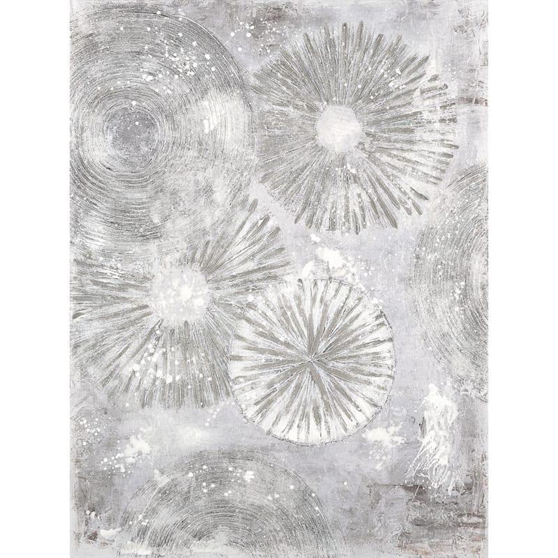 Silver Burst Abstract Wall Art
