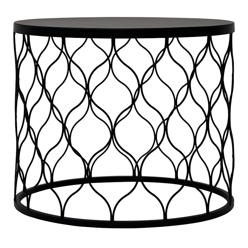 """Ogee Nested Round Stamp Steel Table, 20"""""""