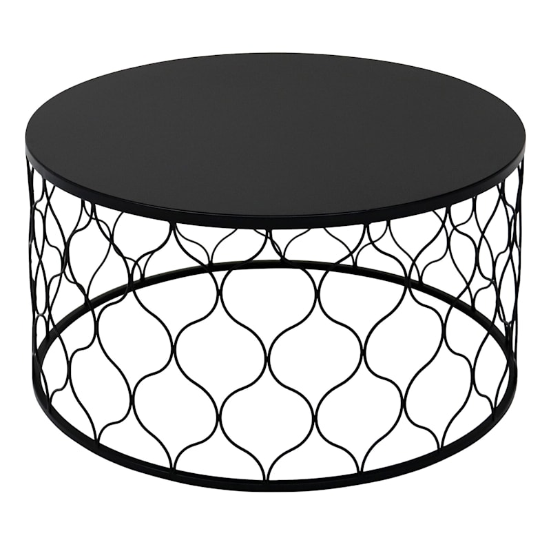 """Ogee Nested Round Stamp Steel Table, 30"""""""