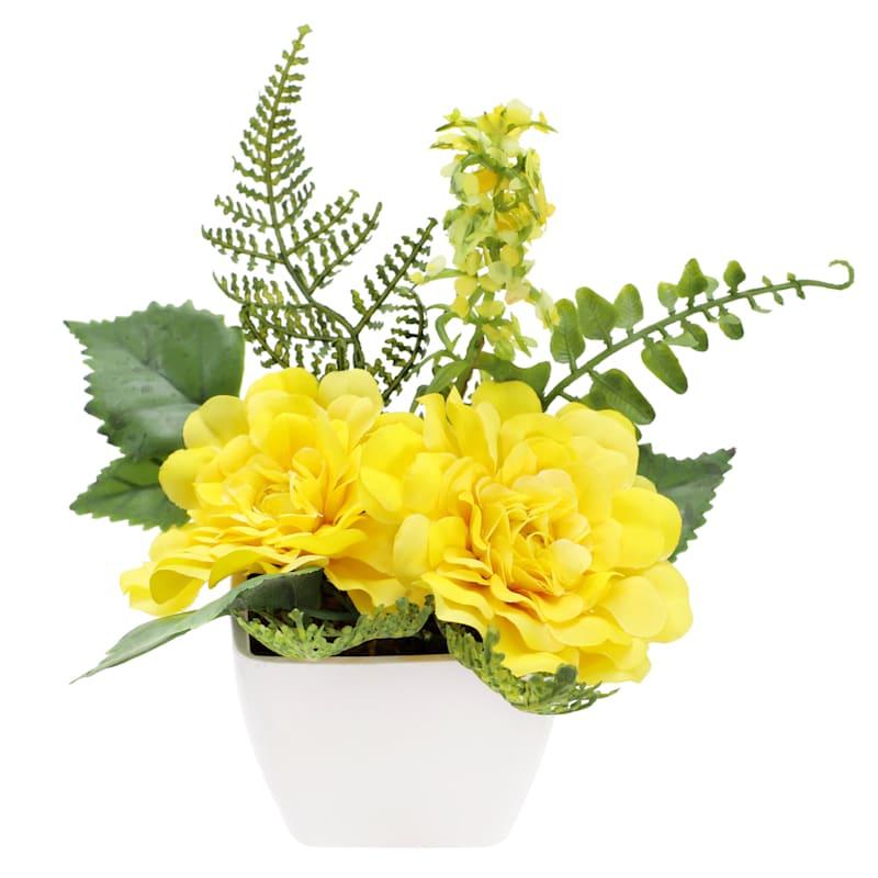 6in. Yellow Zinnia Arrangement
