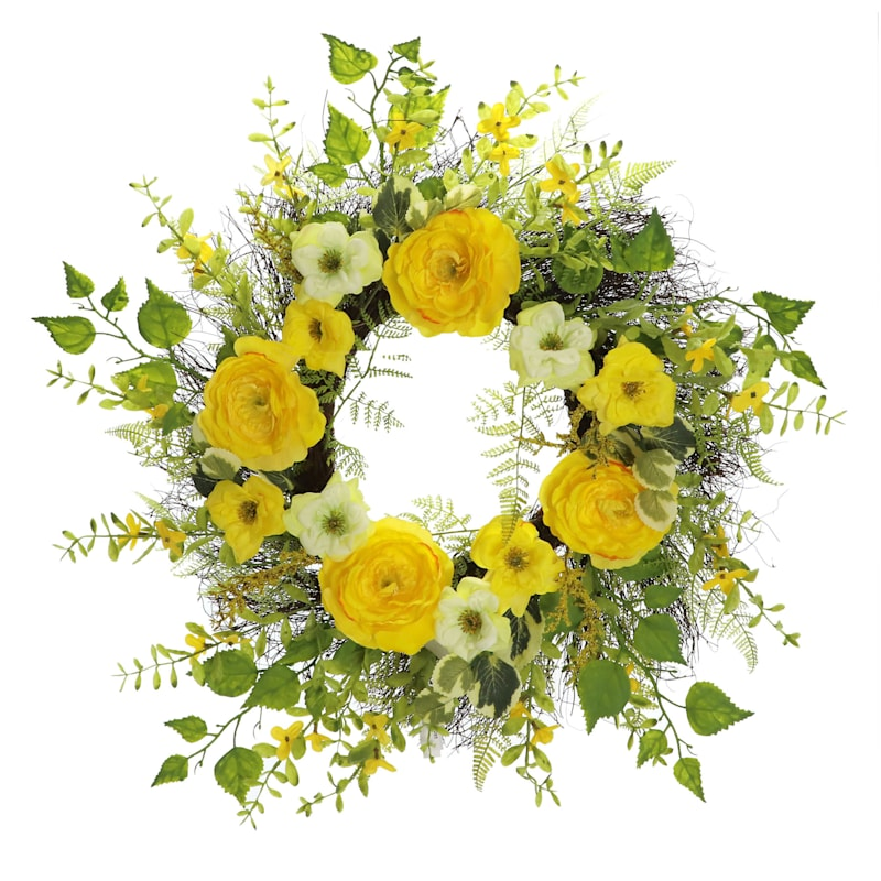 RANUNCULUS WREATH YELLOW