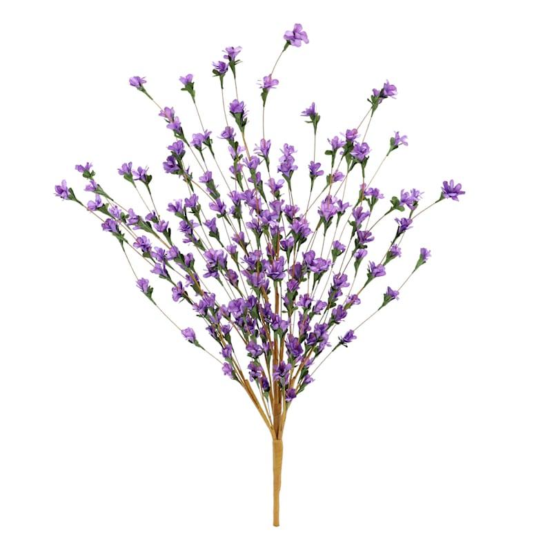 24in. Purple Paper Blossom Spray