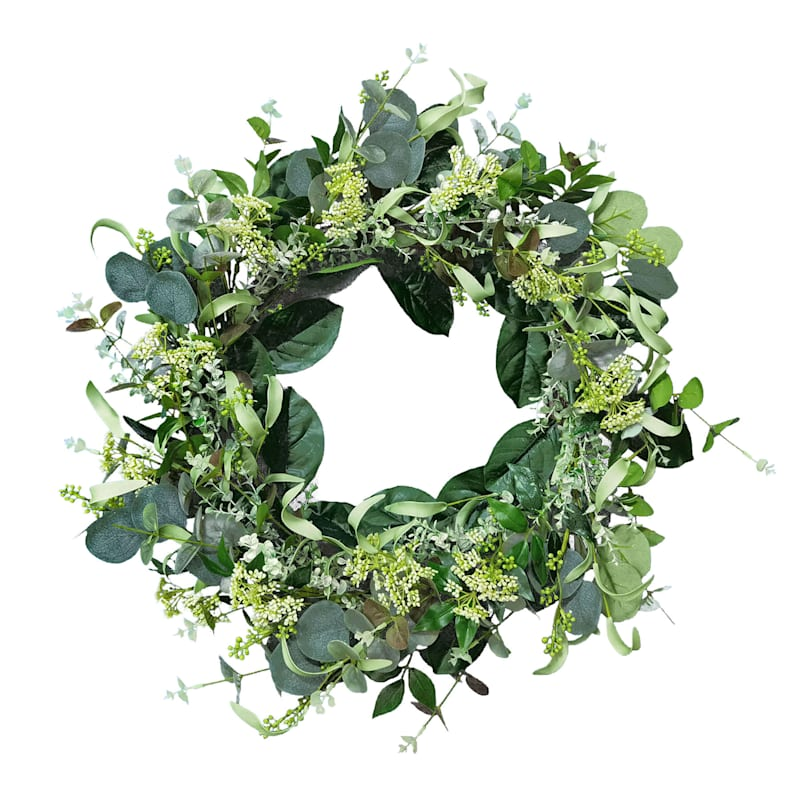 GREENERY AND BERRY WREATH